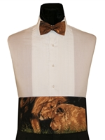 """Nature Study"" Lion Pride Cummerbund & Bow"