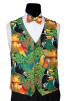 Jungle Birds Vest & Bow