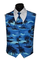 Tradewinds Ocean Blue Vest & Bow