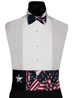 Lone Star Patriotic Cummerbund & Bow Set