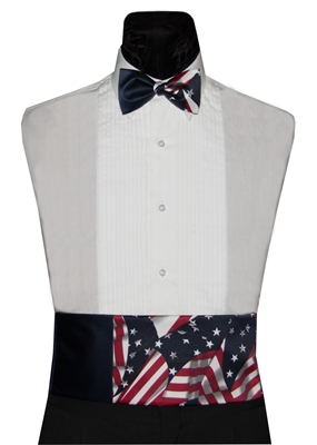 Patriotic Cummerbund & Bow Set