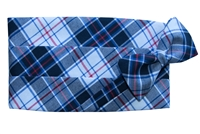 WBR Plaid Cummerbund & Bow Set