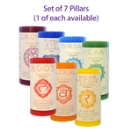 Chakra Pillars Set of 7 Pillars (1 of each available)