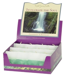 Aromatherapy Two Scented Square Votives -  Invigorate the Soul - Rosemary & Peppermint