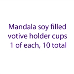 Filled Votive Holders Mandala  - 1 of each