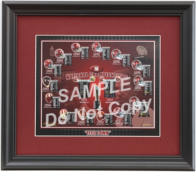 Framed Alabama National Champs Artwork