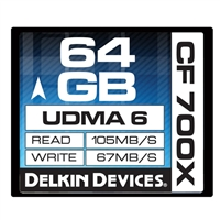 Delkin 64GB 700x speed Compact Flash Card