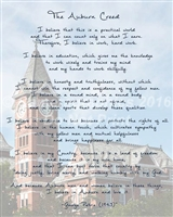 Samford Hall with the Auburn Creed