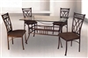 "5 Piece Set 36"" X 60"" Glass Table and four chairs"