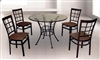 "36"" Round Glass Top Table and four chairs"