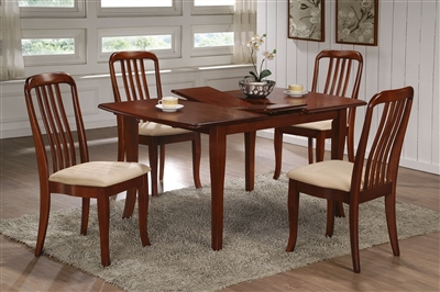 36 Quot X 48 Quot Solid Wood Table Opens To 60 Quot Cherry Finish