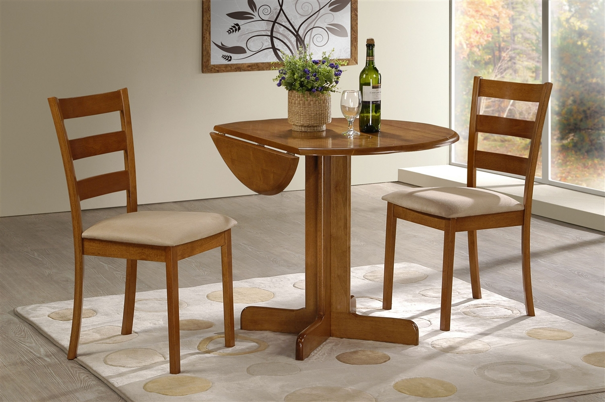 3 Piece Dining Set 3 Piece Dining Set 36 Drop Leaf Table With Two Chairs All Light
