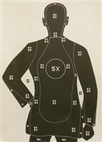 B21XM Target - Police Qualification Silhouette - Box of 100
