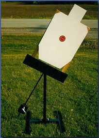 Single - Swinging Pendulum Target Stand - Paper or Cardboard