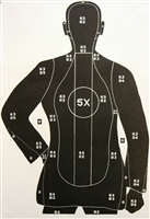 G22 Range Target - 5X Scored Silhouette - Box of 100
