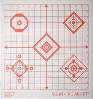Sight-in Grid Target - Red on White - Box of 250