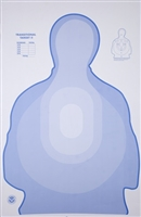 TSR-II DHS Blue Transitional Silhouette Target - Box of 200