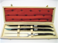 Genuine horn French Laguiole cheese knife set