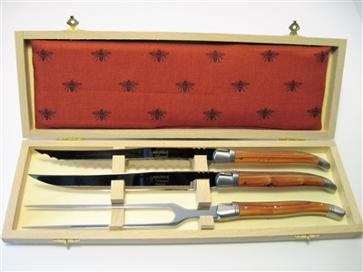Rosewood  Laguiole carving knife set