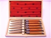 French Laguiole Rosewood handle table knives