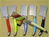 French Laguiole cheese and tart cleaver knives in multi colors
