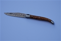 Damascas Laguiole pocket knife