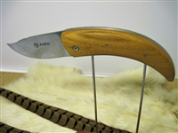 French folding olive wood knife