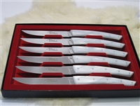 French Le Thiers table knives in pearl white