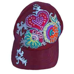 Heart Flowers Baseball Cap