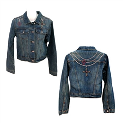 Denim crosses jacket