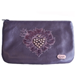 Heart and Weeds Large Card Pouch