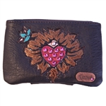 Heart and Weeds Mini Coin Pouch