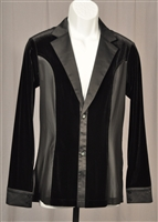 Men's Velvet Shirt/Jacket with Mesh Sides