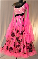 Elegant Hot Pink Ballroom Dress