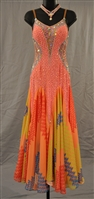 Crazy Fun Orange Ballroom Dress