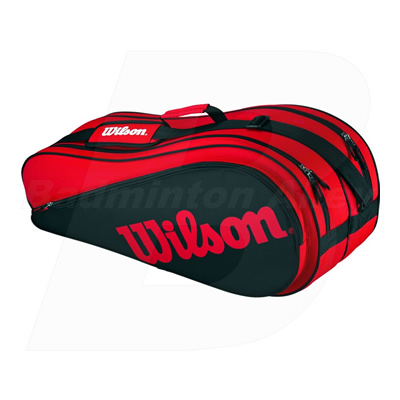 Wilson Racket Badminton Tennis Bag Red Black