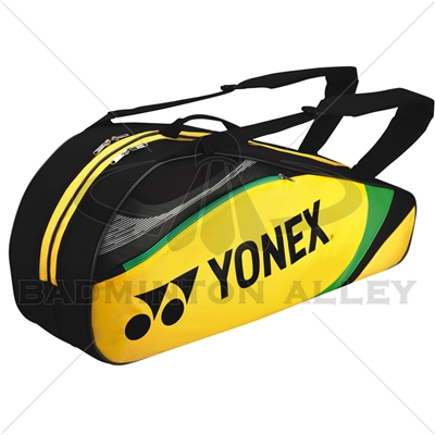 Yonex 7326 Yellow Badminton Tennis 6 Rackets Bag