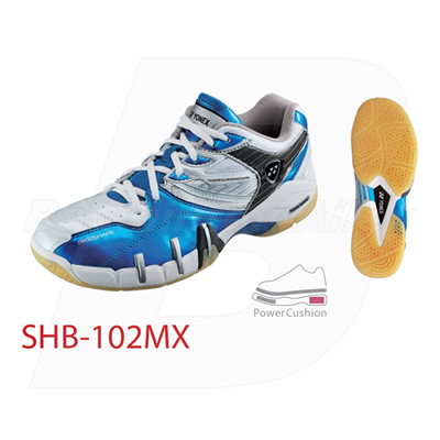 Yonex SHB-102 MX 2011 Metallic Blue Men Badminton Shoes