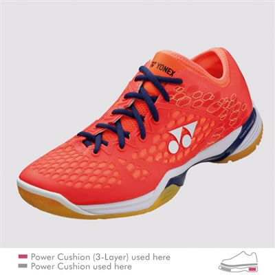 Yonex SHB-PC-03 Z MX Coral Red Men Badminton Shoes