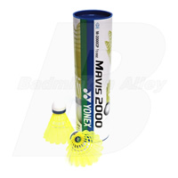 Yonex Mavis 2000 (M2000) Yellow (Medium Speed) Nylon Shuttlecock