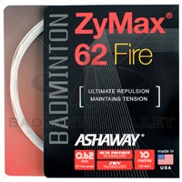 Ashaway ZyMax 62 Fire (0.62mm) Badminton String - White