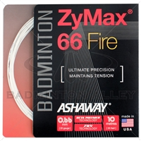 Ashaway ZyMax 66 Fire (0.66mm) Badminton String - White