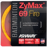 Ashaway ZyMax 69 Fire (0.69mm) Badminton String - Orange