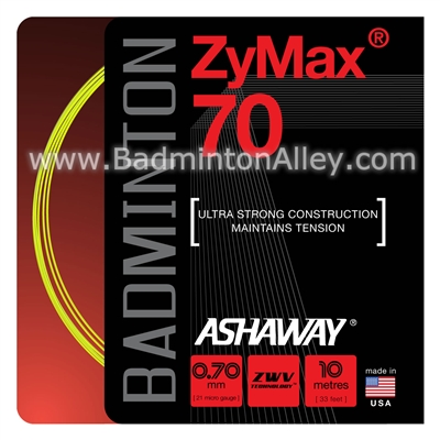 Ashaway ZyMax 70 (0.70mm) Badminton String - Yellow