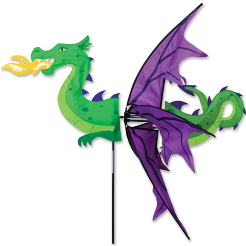 Halloween lawn decorations - Flying Dragon Whirligig Whirligig Flag Spinners Wind Spinners