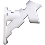 White 2 Position Cast Aluminum Flag Pole Bracket by Valley Forge