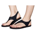Topsies Black stretch sandal flip flops