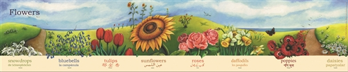 Flowers Poster-Multilingual Edition, Multicultural Poster