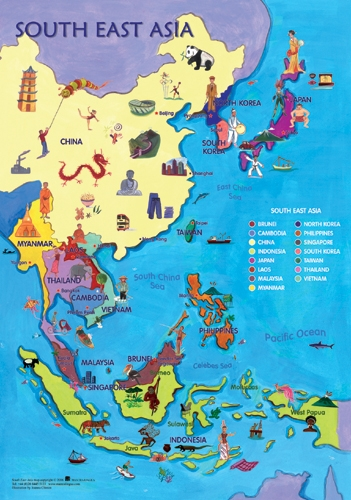 Map of Southeast Asia, World Maps