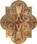 MD-109-D4-S (Cartouche)  | Hardwood Medallion